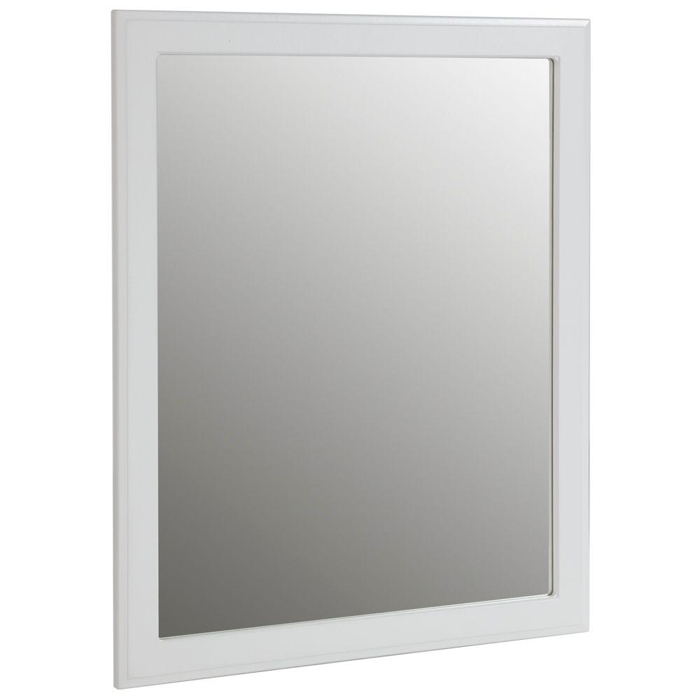 White Framed Mirror 30 X 36.A White Hemnes Mirror Hung On