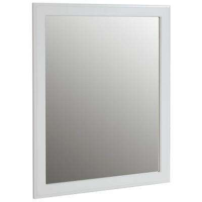 Regency 26 in. x 31 in. Wall Mirror in White