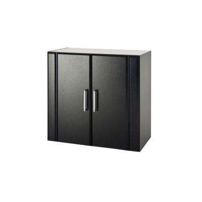 24 in. H x 24 in. W x 12-1/4 in. D 2-Door Wall Cabinet in Black