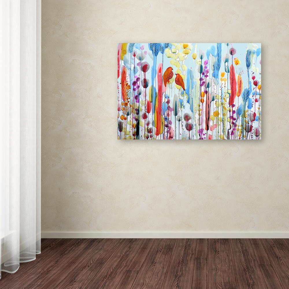 "30 in. x 47 in. ""Si Tu Me Le Demandais"" by Sylvie Demers Printed Canvas Wall Art"