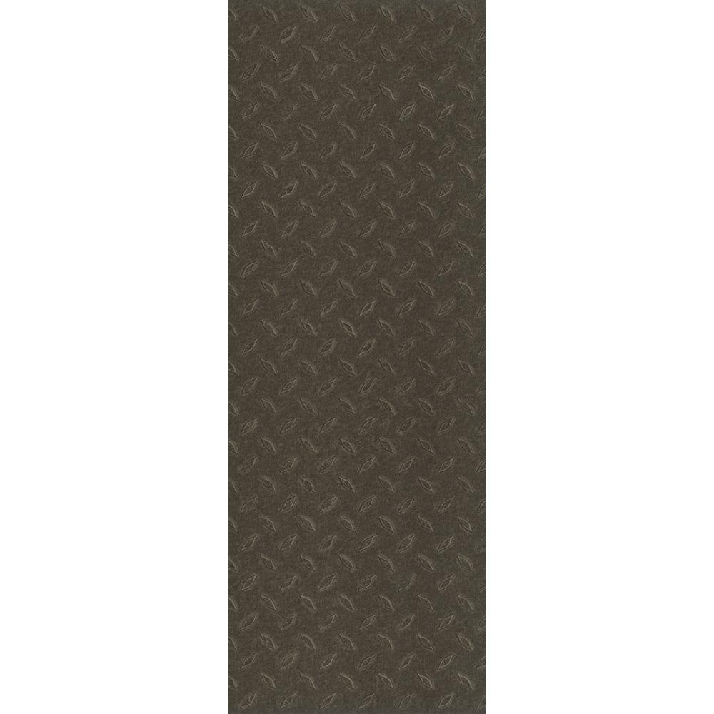 TrafficMASTER Allure Commercial 12 in. x 36 in. Stamped Steel Black Vinyl Flooring (24 sq. ft. / case)