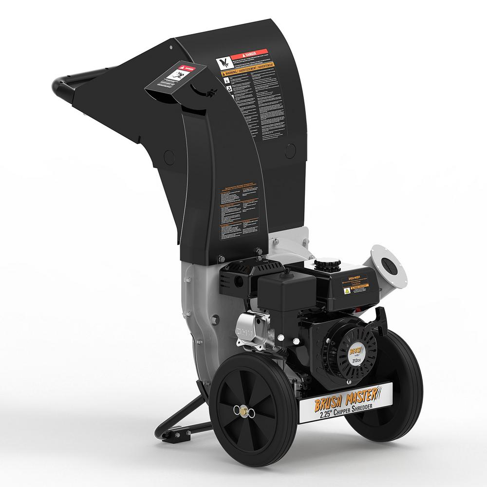 Brush Master 2.25 in. 6.5 HP 212cc Gas Powered, Unique Innovation 3-in-1 Discharge Chute Chipper Shredder with Gloves, Safety Goggles was $799.0 now $529.0 (34.0% off)