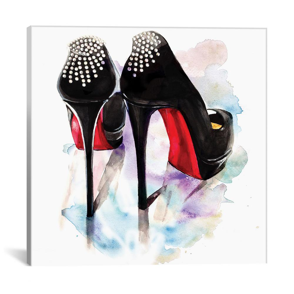 42439592b4f1 iCanvas Christian Louboutin Classic Heels by Rongrong DeVoe Wall Art-RDE25-1PC3-12x1  - The Home Depot
