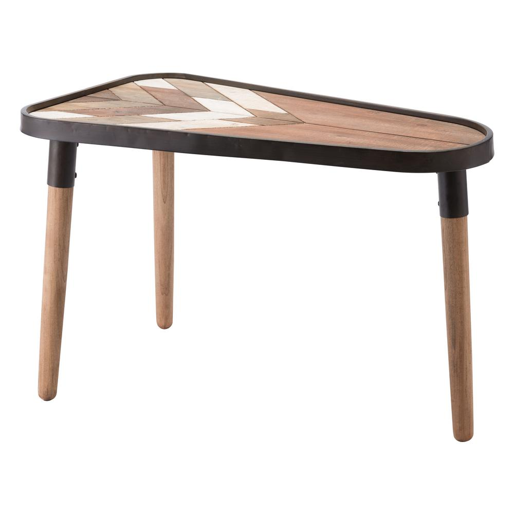 Zuo Arrow Brown Large Table A10894 The Home Depot