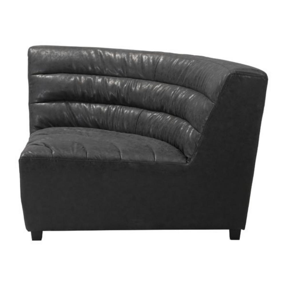 Julia Black Leatherette Corner Chair