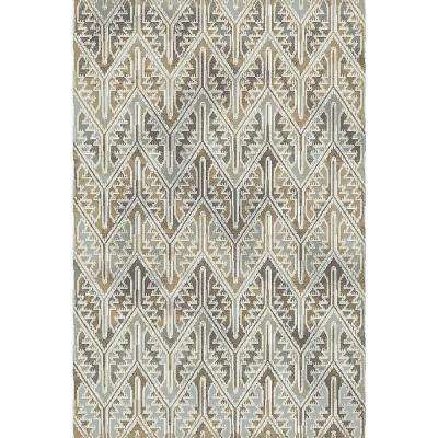 Royal Treasure Soft Blue/Mocha 2 ft. x 3 ft. 5 in. Indoor Area Rug