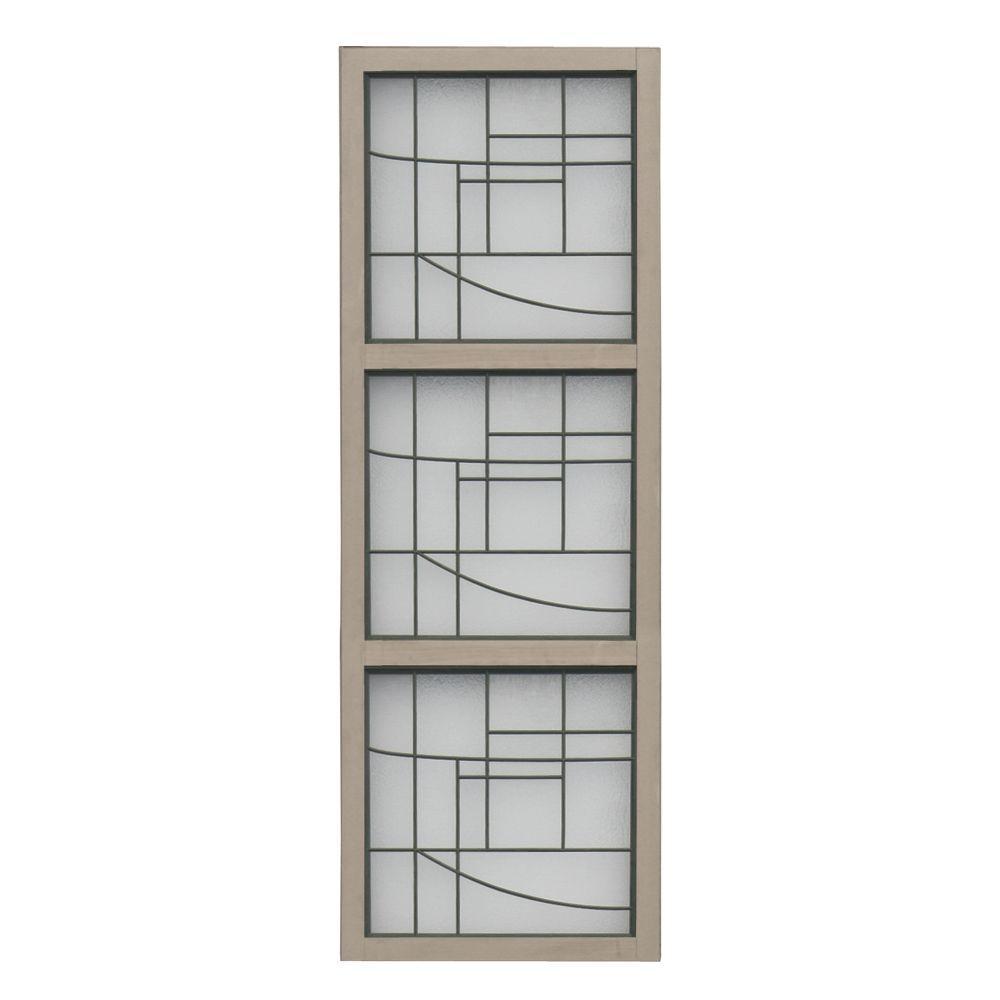 Yardistry 1.5 in. x 19.5 in. x 4.6 ft. Cedar 3-High Faux Glass Panel