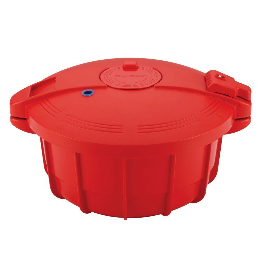 Silverstone Red Microwave Pressure Cooker 51388 The Home