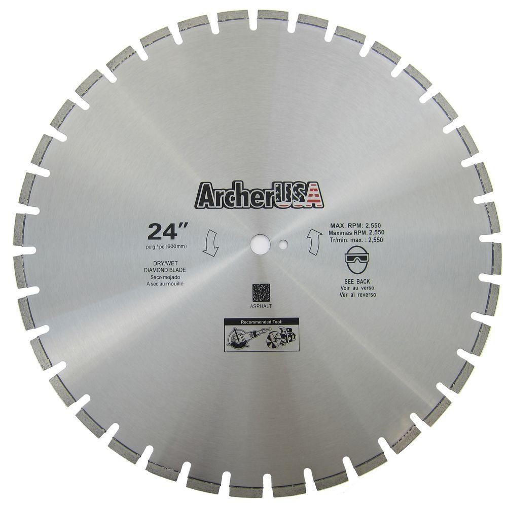 Archer USA 24 in. Diamond Blade for Asphalt Cutting