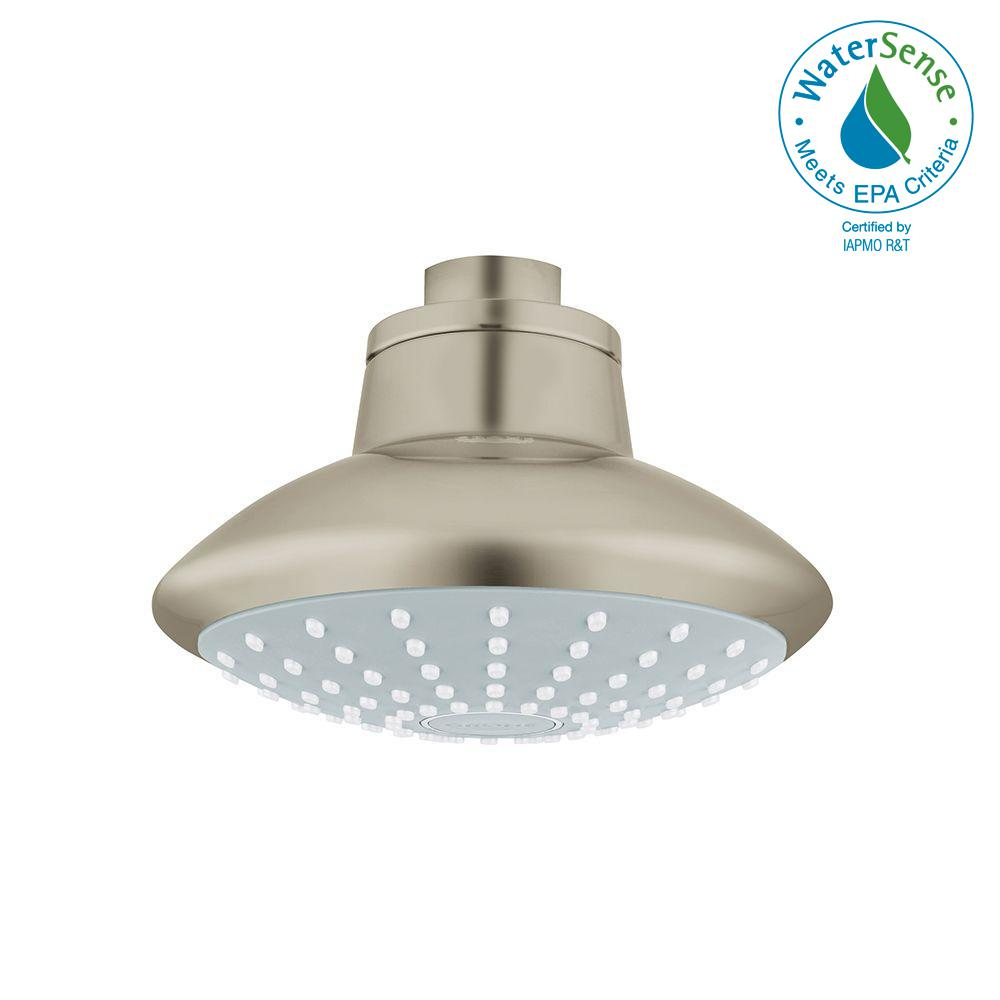 Euphoria 1-Spray 4-5/8 in. Showerhead in Brushed Nickel InfinityFinish