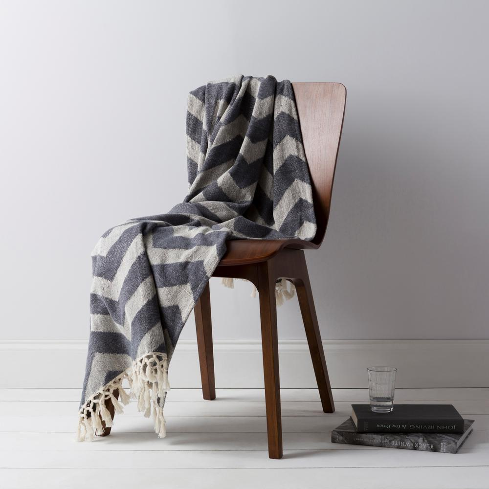 Lani Charcoal Cotton Throw
