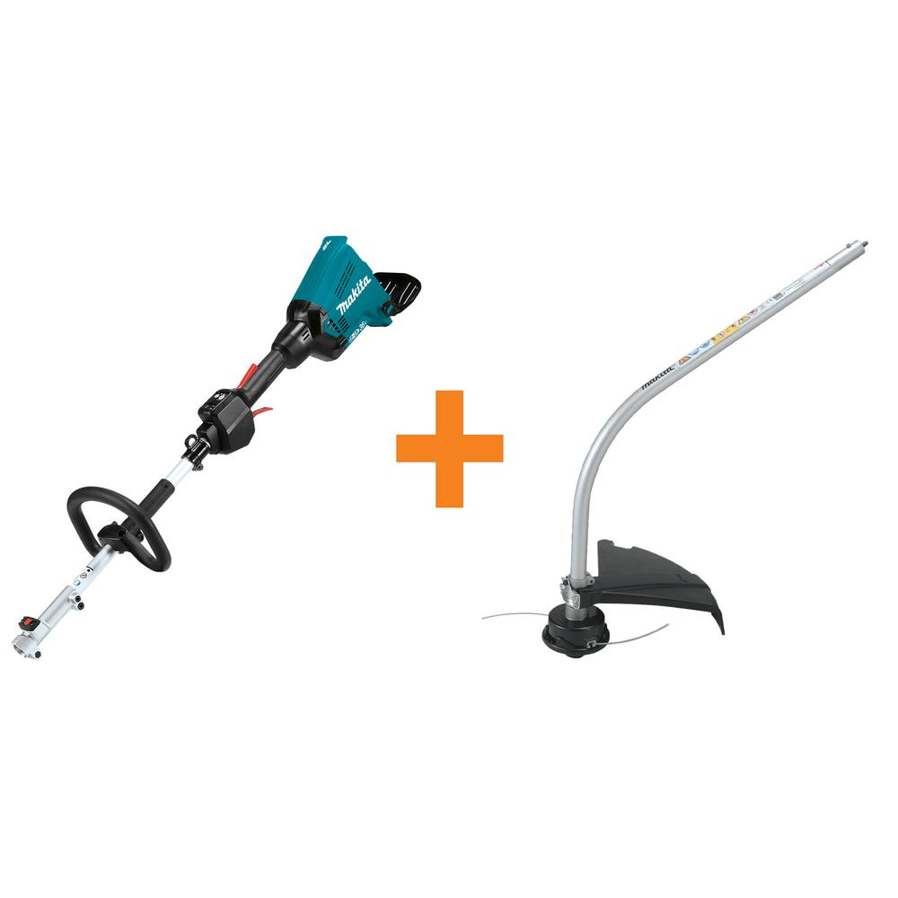 Makita 18-Volt X2 (36-Volt) LXT Brushless Cordless Couple Shaft Power Head (Tool Only) and Curved String Trimmer Attachment