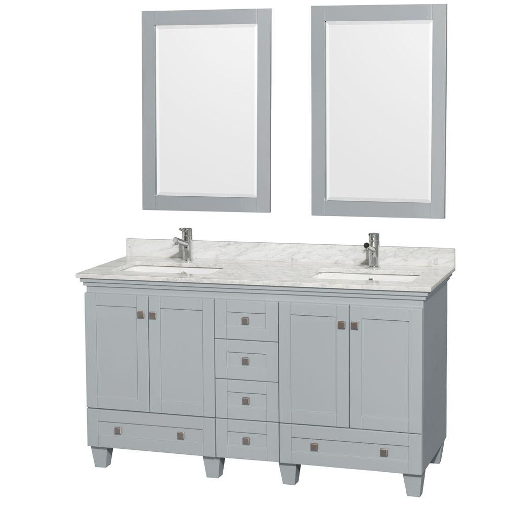 Wyndham Collection Acclaim 60 in. W x 22 in. D Vanity in Oyster Gray ...