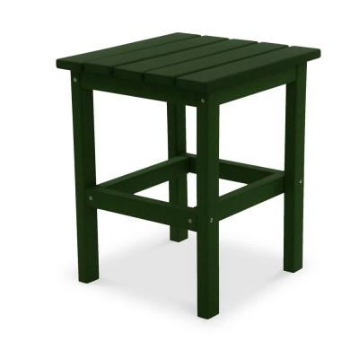 Icon Forest Green Recycled Plastic Square Side Table