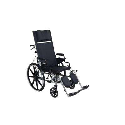 Viper Plus GT Full Reclining Wheelchair with 18 in. Seat and Desk Arms