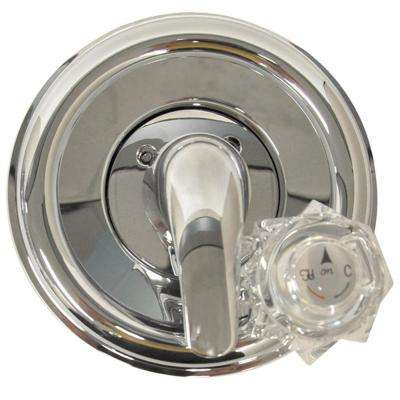 Single-Handle Valve Trim Kit in Chrome for Delta Tub/Shower Faucets (Valve Not Included)
