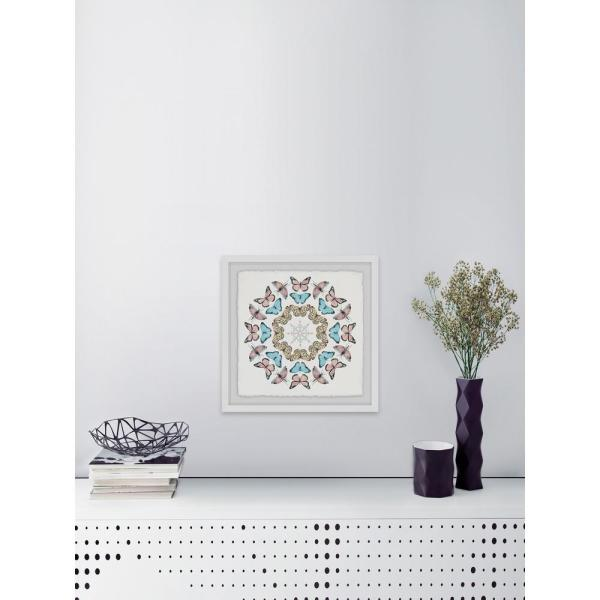 32 in. H x 32 in. W ''Butterfly Circles'' by Marmont