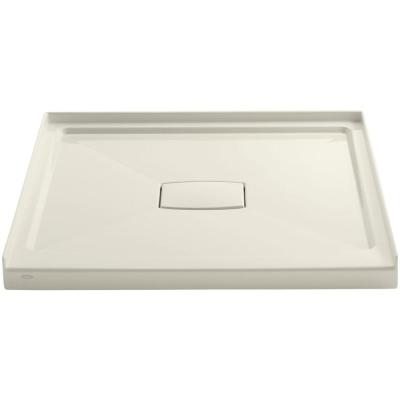 Archer 42 in. x 42 in. Single Threshold Shower Base in Biscuit