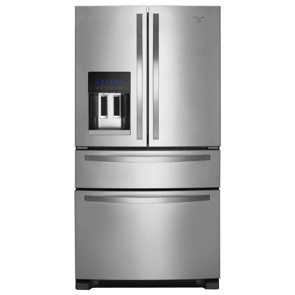 WHIRLPOOL 24.5 cu. ft. French Door Refrigerator in Monochromatic Stainless Steel