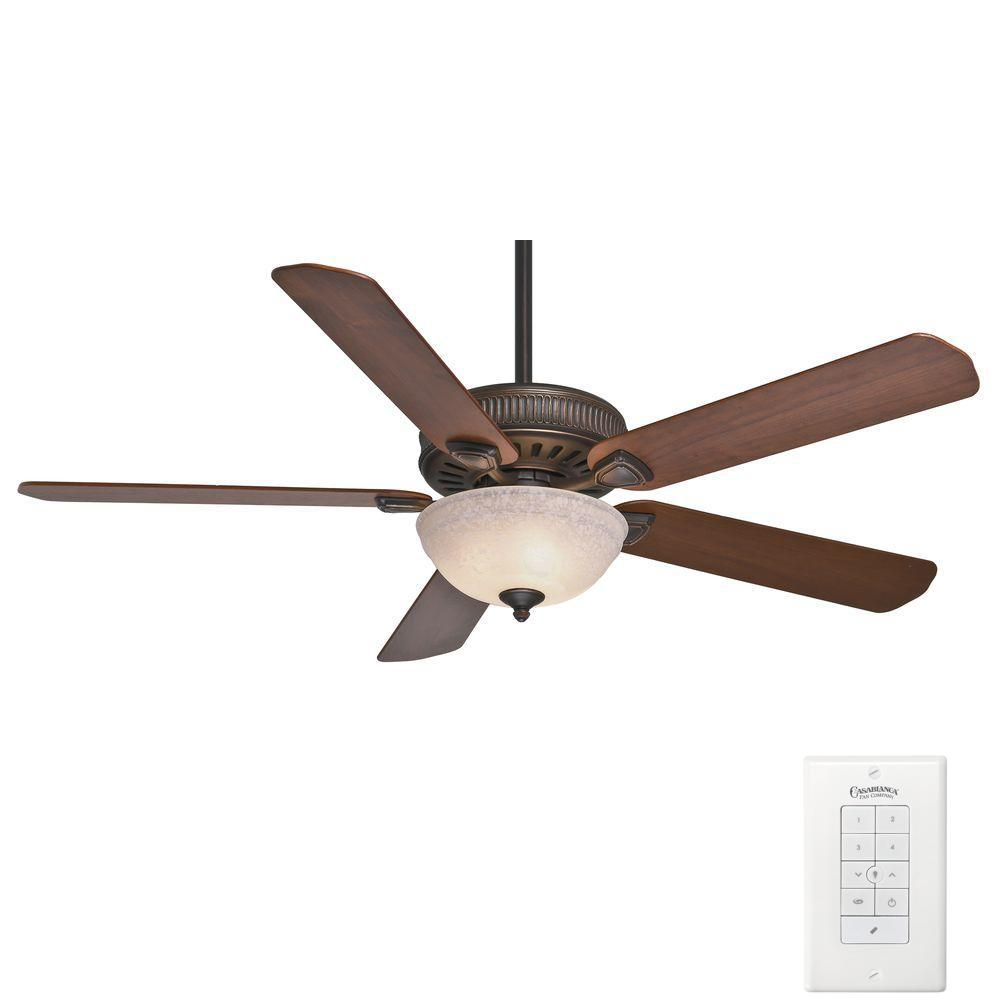 Ainsworth Gallery 60 in. Indoor Onyx Bengal Bronze Ceiling Fan with
