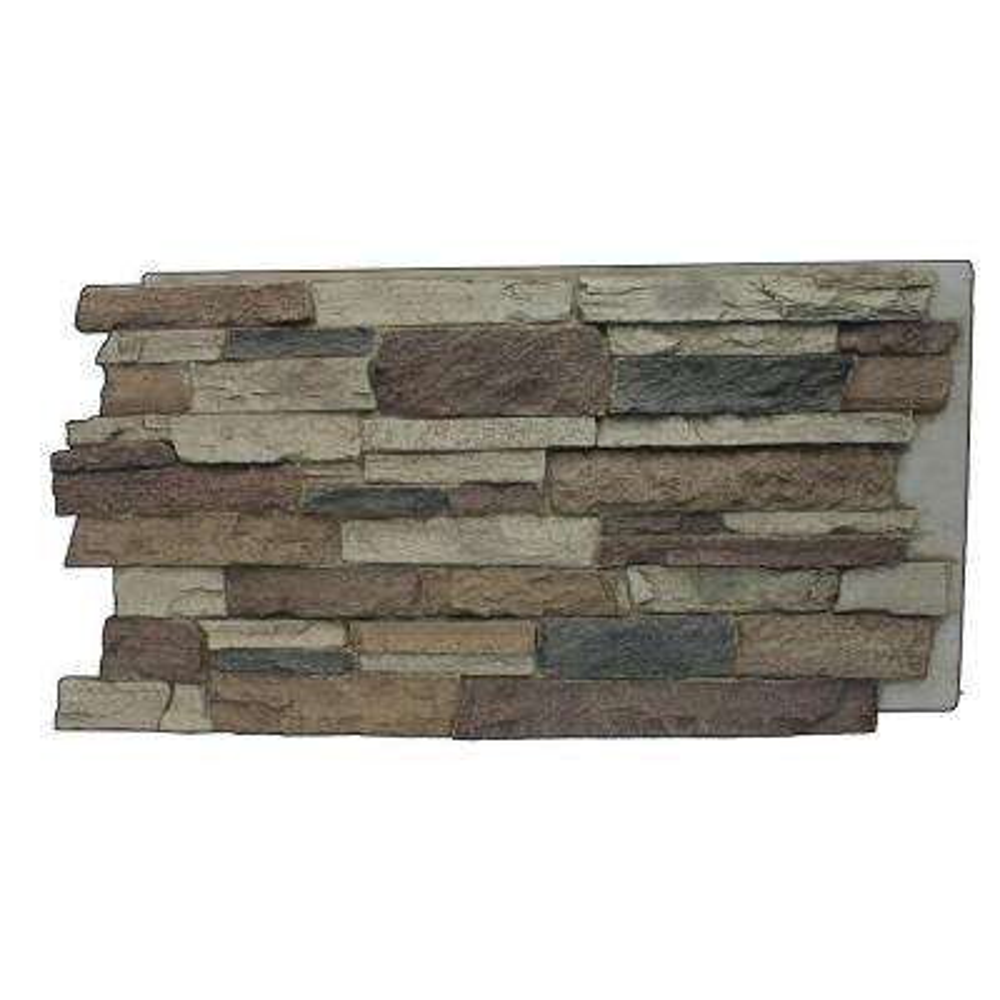 Rustic Lodge 24-3/4 in. x 48-3/4 in. x 1-1/4 in. Faux Mountain Ledge Stone Panel