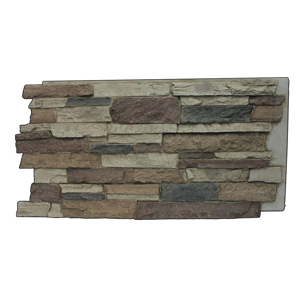 superior building supplies faux mountain ledge stone 24 3 4 in x 48