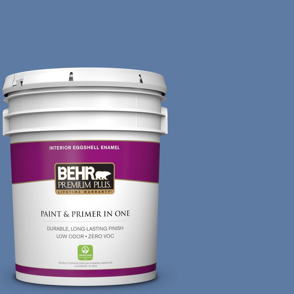 5 gal. #600D-6 Blueberry Patch Zero VOC Eggshell Enamel Interior Paint