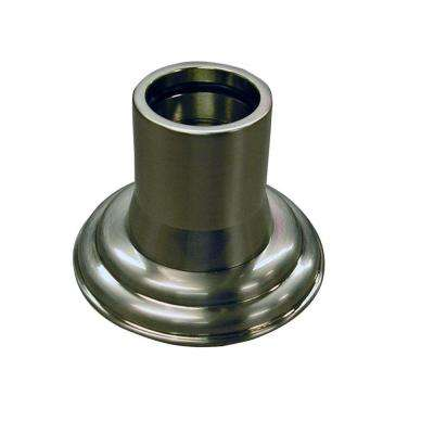 1 in. Decorative Shower Rod Flange in Brushed Nickel