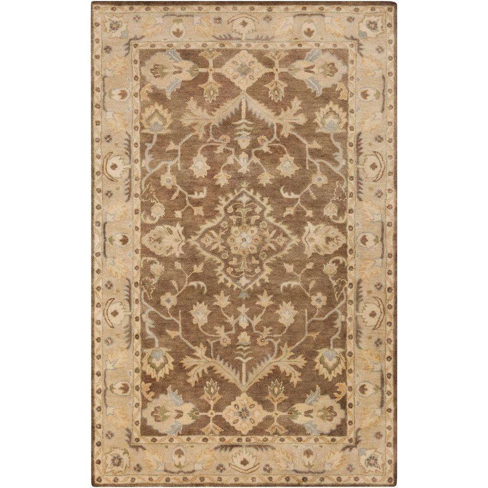Rafi Taupe 5 ft. x 7 ft. 6 in. Indoor Area
