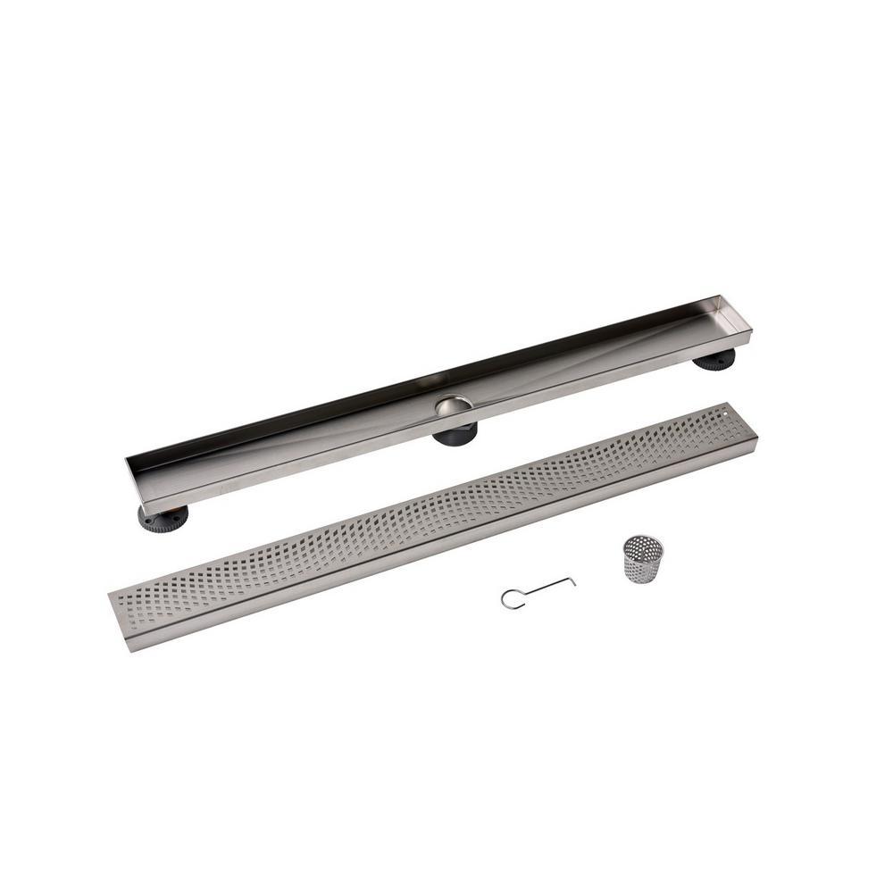 Designline 32 in. Stainless Steel Linear Drain Wave Grate