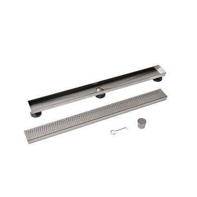 Designline 32 in. Stainless Steel Linear Drain Wave Grate