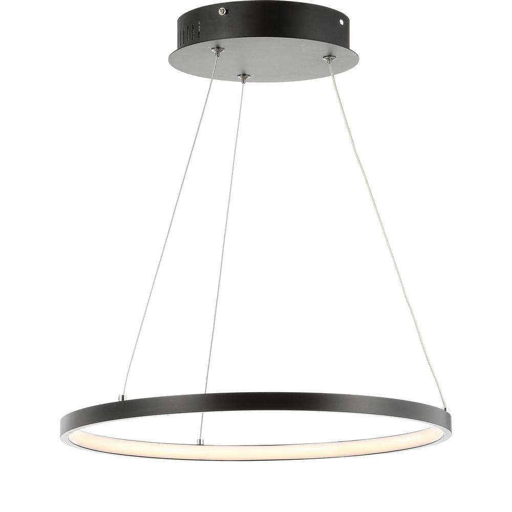 Bradley 24-Watt Matte Black Integrated LED Chandelier