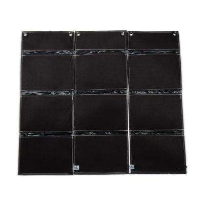 3 Plant Site 10 in. x 27 in. Fabric Vertical Wall Garden (3-Pack)