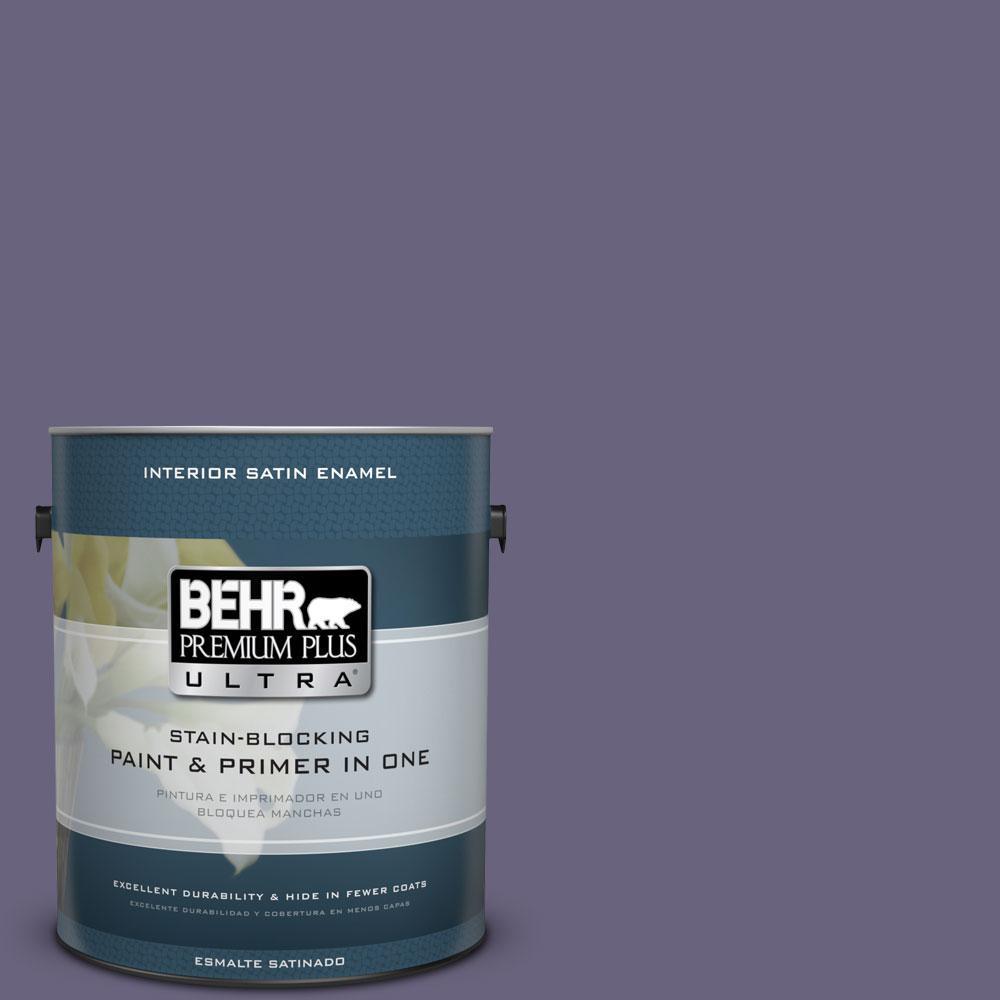 BEHR Premium Plus Ultra 1-gal. #650F-6 Victorian Iris Satin Enamel Interior Paint
