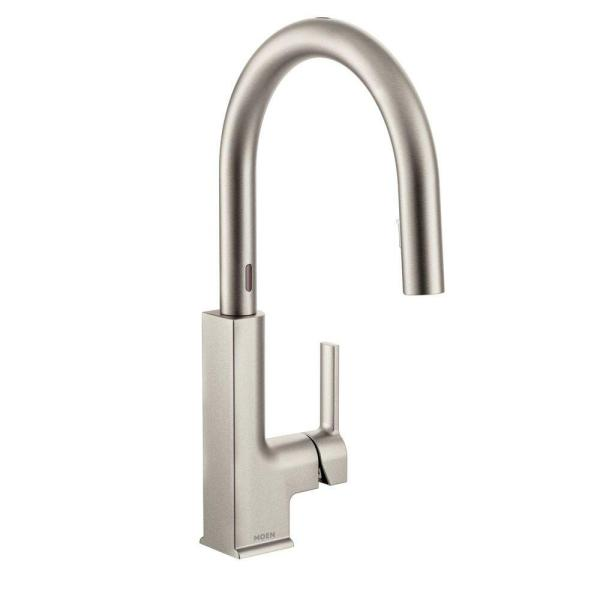 STo Single-Handle Pull-Down Sprayer Touchless Kitchen Faucet with MotionSense and Power Clean in Spot Resist Stainless