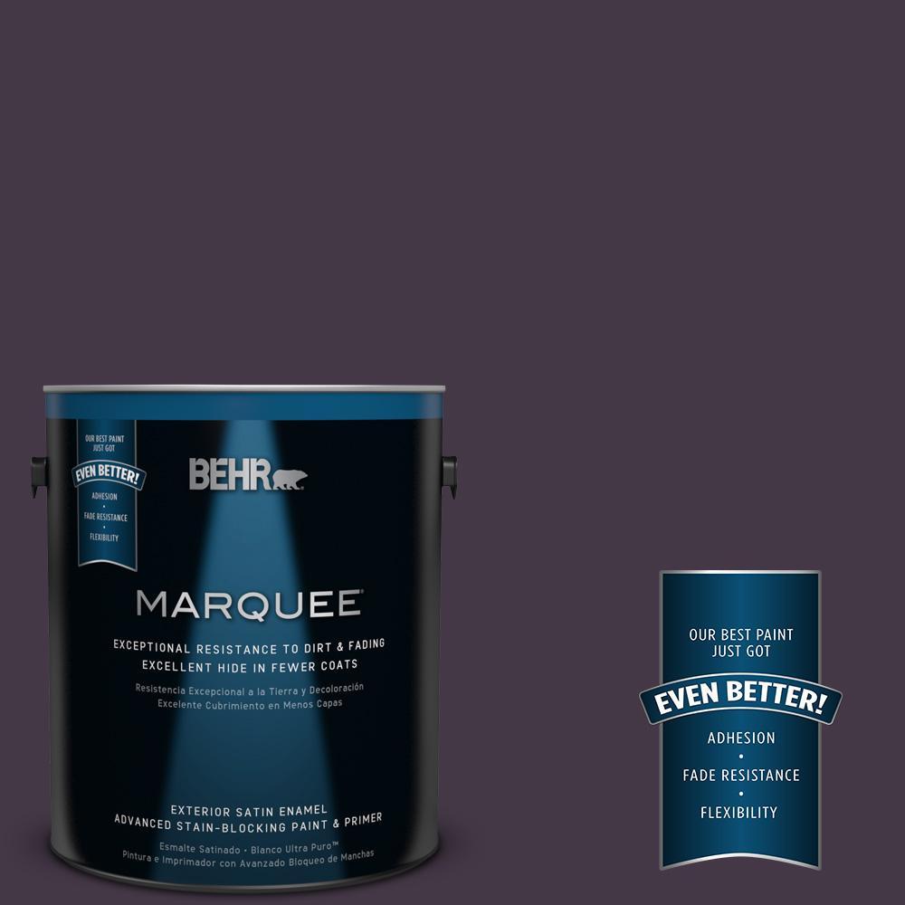 BEHR MARQUEE 1-gal. #ECC-17-3 Napa Harvest Satin Enamel Exterior Paint