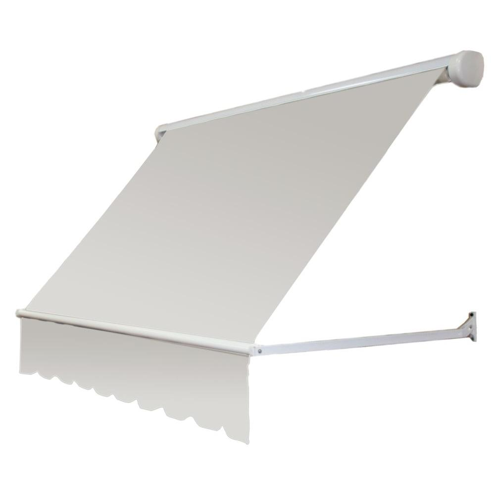 new arrival e0cb4 a28da AWNTECH 6 ft. Mesa Window Retractable Awning (24 in. Projection) in Off  White