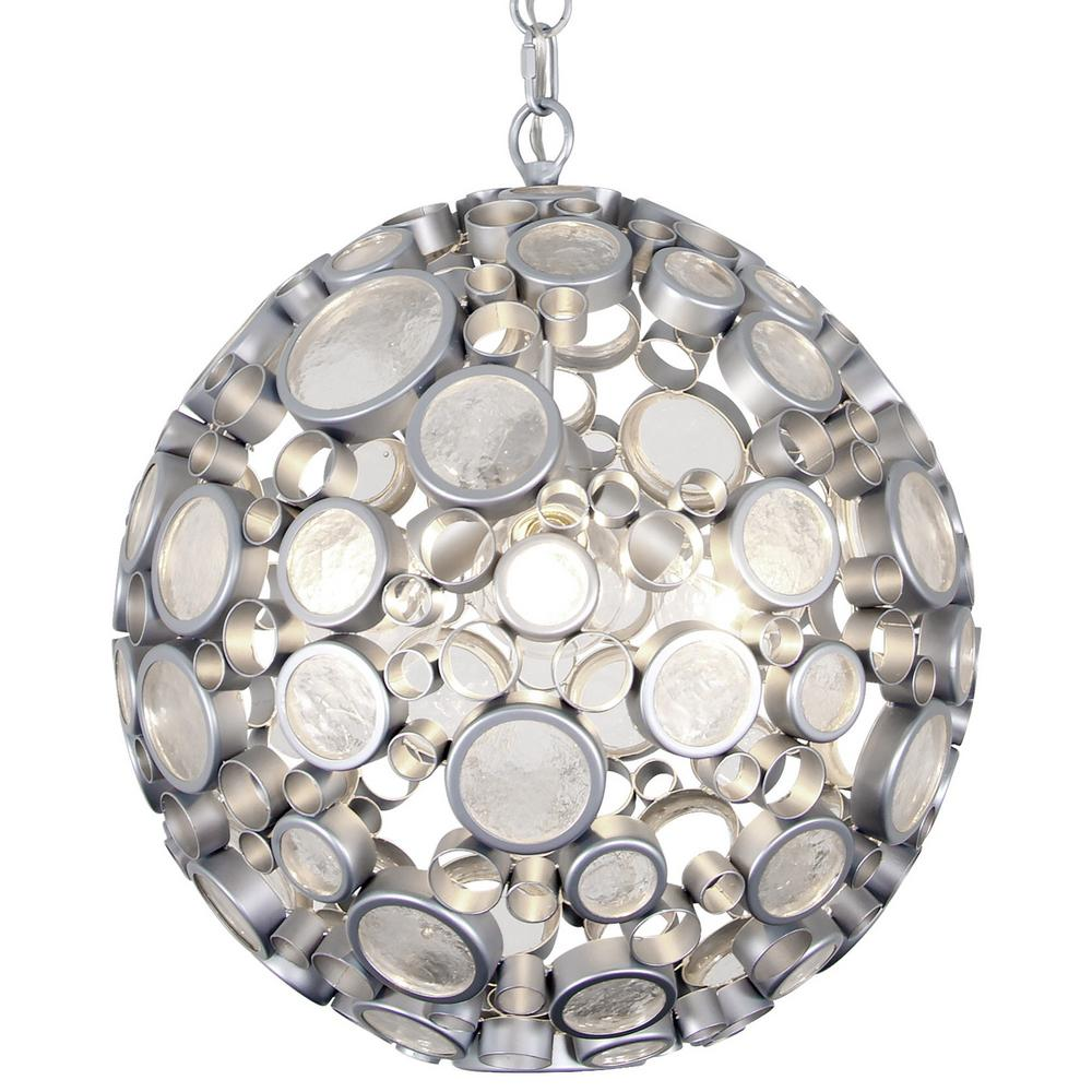 Varaluz Fascination 3-Light Metallic Silver with Recycled Clear ...