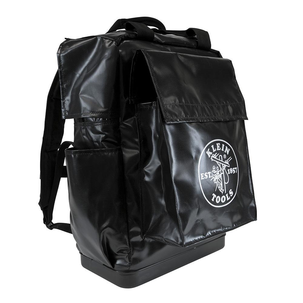 18 in. Lineman Backpack Tool Bag in Black