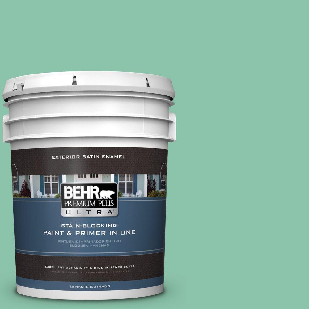 BEHR Premium Plus Ultra Home Decorators Collection 5-gal. #hdc-WR14-8 Spearmint Frosting Satin Enamel Exterior Paint