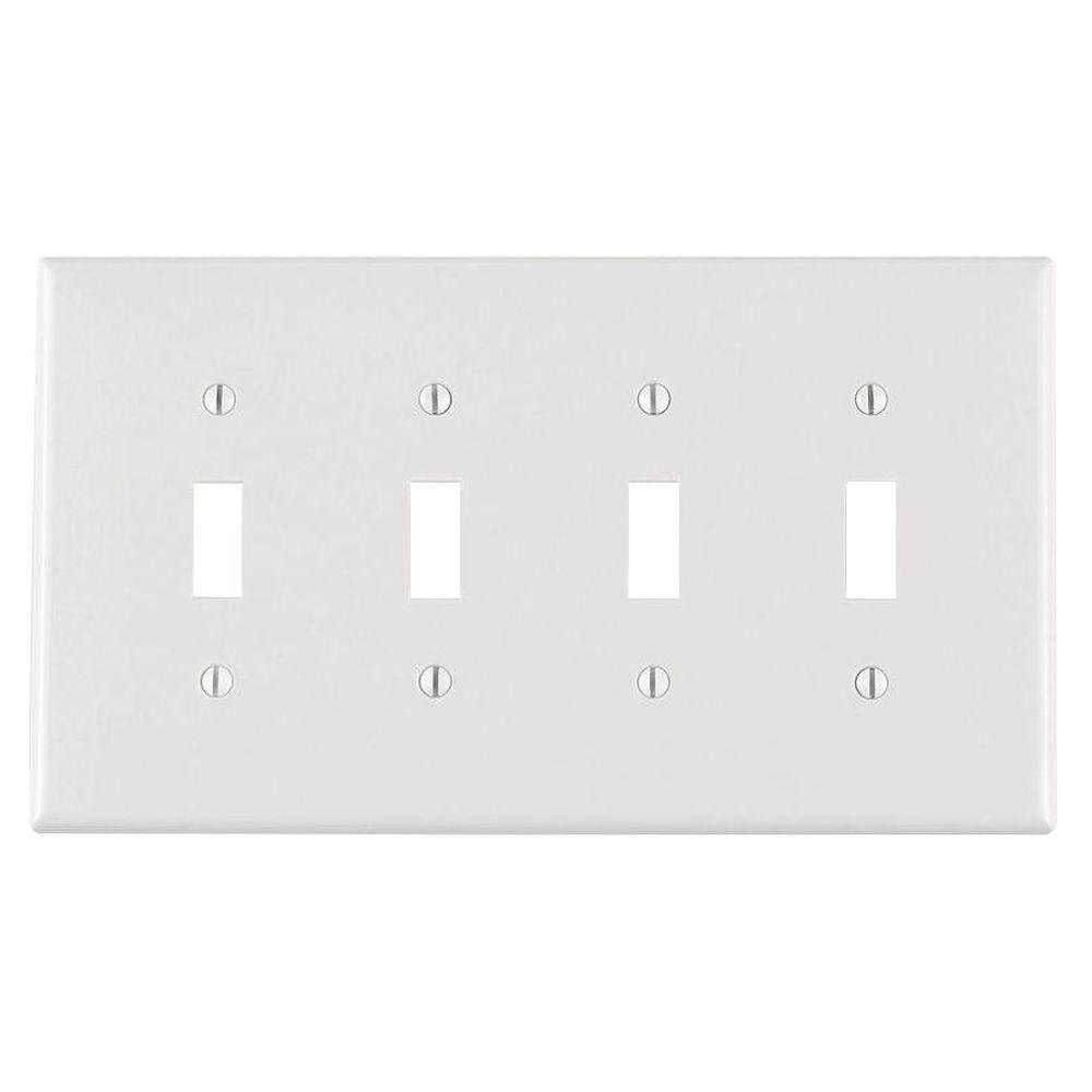 4 Switch Plate Extraordinary 4  Toggle Switch Plates  Switch Plates  The Home Depot Design Ideas