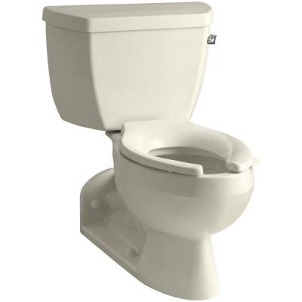 Barrington 4 in. Rough-In 2-piece 1.6 GPF Single Flush Elongated Toilet in Almond