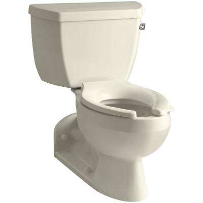 Barrington 4 in. Rough-In 2-piece 1.6 GPF Single Flush Elongated Toilet in Almond