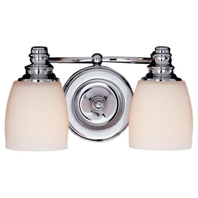 Bentley 2-Light Chrome Vanity Light