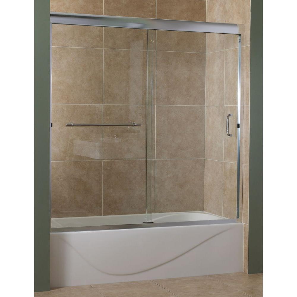Foremost Marina 60 in. x 60 in. Semi-Framed Sliding Tub Door in ...