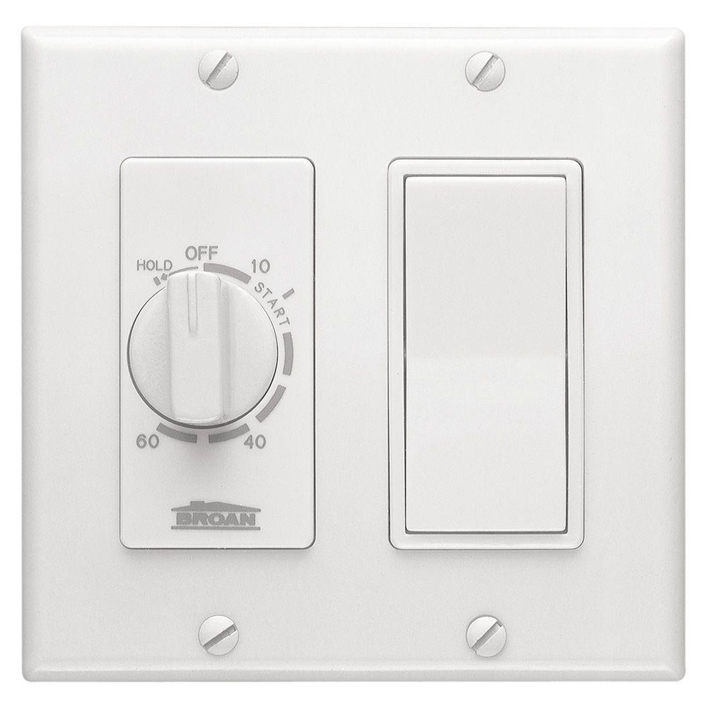 Broan nutone 15 amp 60 minute in wall dial timer with rocker switch broan nutone 15 amp 60 minute in wall dial timer with rocker switch aloadofball Choice Image