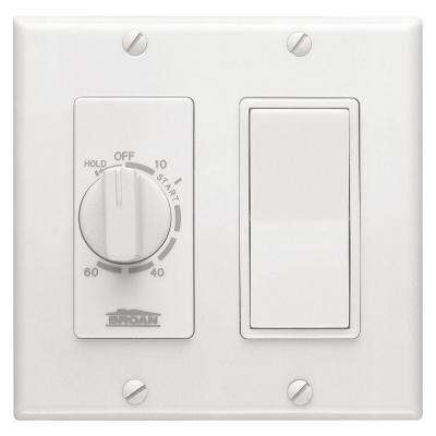 15 Amp 60-Minute In-Wall Dial Timer with Rocker Switch - White