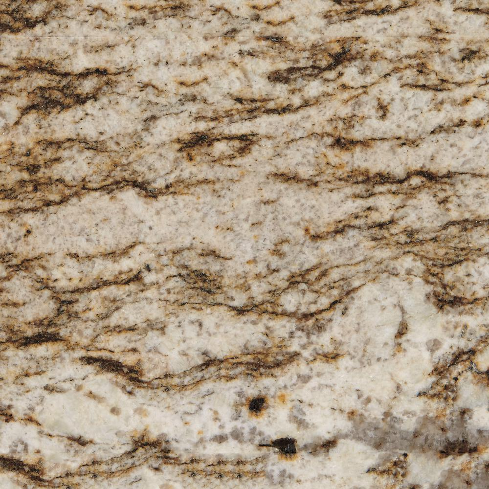 Stonemark Granite 3 in. x 3 in. Granite Countertop Sample in Bianco Lucre