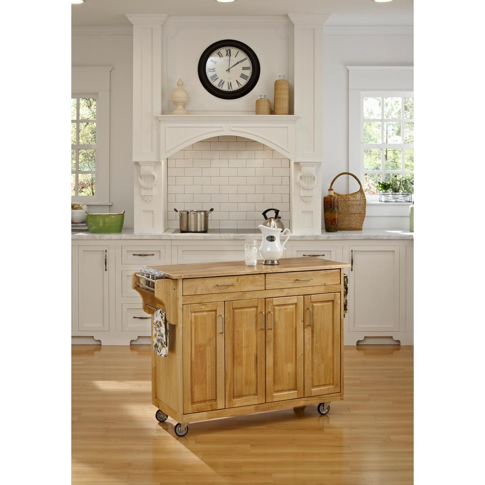 Create-a-Cart Natural Kitchen Cart