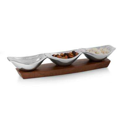 Drift 3 Section Alloy Condiment Server